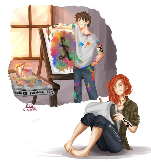 Whilst Clary is a sketcher of life and a manga artist, Jules works in paints that express imaginary scenes. In short she's more of an illustrator whilst Jules is a fine artist.  Drawn by o0-sarcasm-0o ...  clarissa 'clary' fray/fairchild, julian 'jules' blackthorn, the dark artifices, the mortal instruments