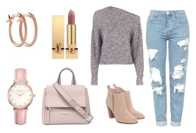 Pink fall by maria-belen on Polyvore featuring T By Alexander Wang, Topshop, Michael Kors, Givenchy, Pori and Yves Saint Laurent