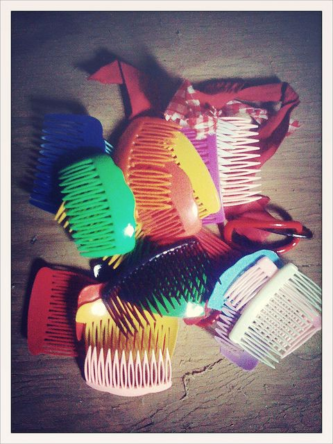OLD ENOUGH TO REMEMBER hair combs; popular around 1980