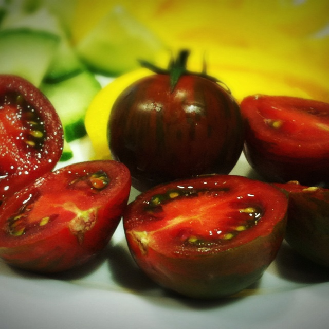 Green Tiger Tomatoes