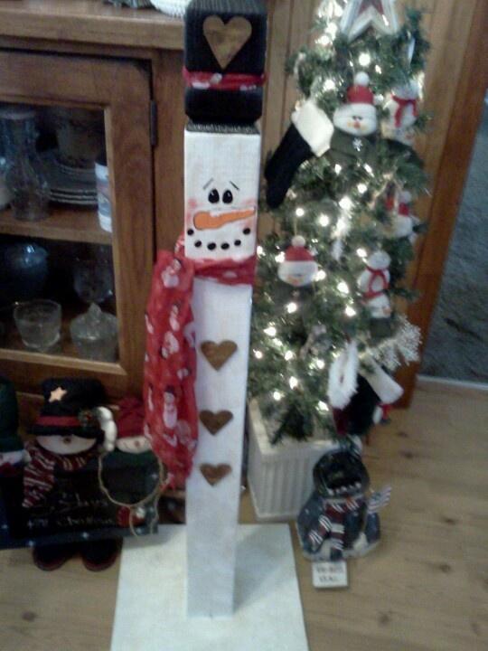 Wooden Snowman Craft Ideas