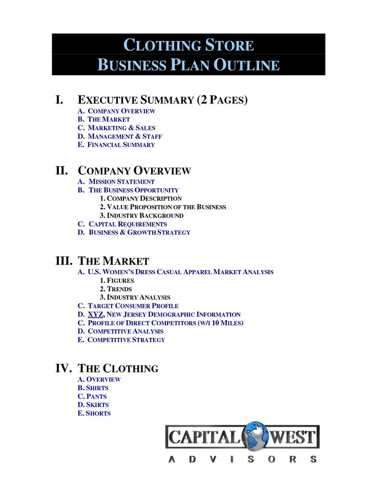 Clothing Line Business Plan Template Free Free Business