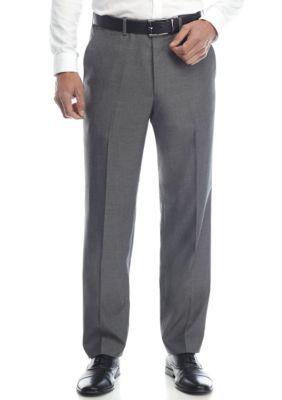 Alexander Julian Men's Big & Tall Suit Separate 32-In. Inseam Pants - Dk Gryshrk - 46 Average