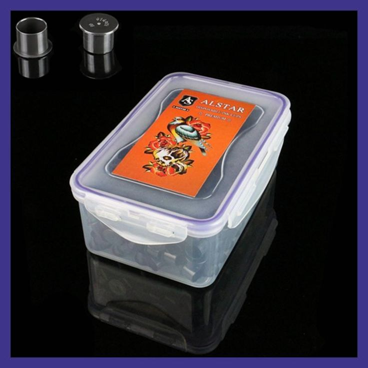 AlSTAR 200pcs Plastic Tattoo Ink Cups Caps 20*17 black Medium Classic Without Base Ink Caps Tattoo Pigment Cups tinta de tatuaje