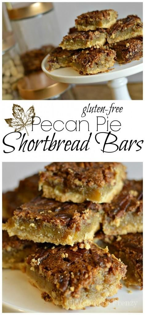 These gluten-free pecan pie shortbread bars are truly decadent in every way. They are rich and buttery. Nobody would ever know this fall dessert is gluten-free. Take classic pecan pie flavors and put them in a more mobile bar with these treat.