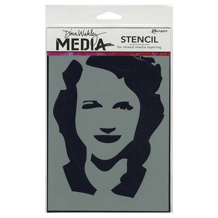 Dina Wakley Media Stencil: Stenciled Maggie - MDS44222