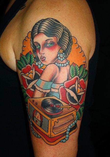 record player tattoo                                                       …