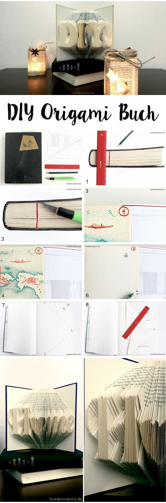 DIY Origami Buch falten  //  DIY Origami Book