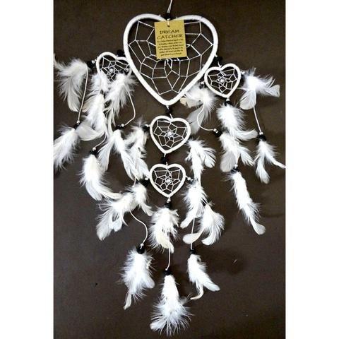 White Heart Dream Catcher - The Hippie House