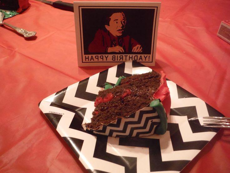 Twin Peaks Birthday Cake