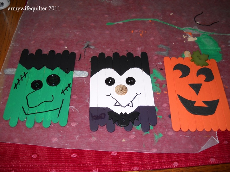 7 best images about Just Because on Pinterest Popsicle stick - homemade halloween decorations for kids