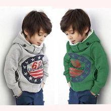 Cartone animato 6 8 neonati maschi ragazze bambini cappotto con cappuccio giacca maglione pullover outwear(China (Mainland))