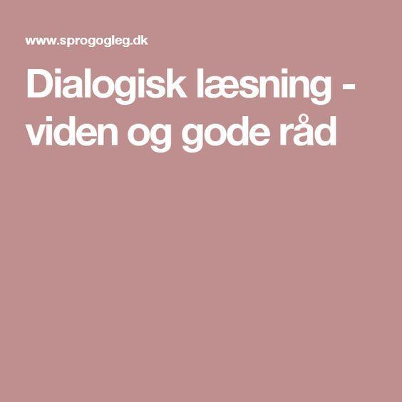 Dialogisk læsning - viden og gode råd