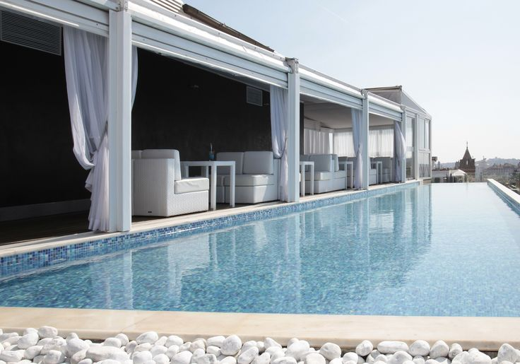 Rooftop pool - Rome at your feet #pool #BoscoloExedraRoma #Rome #rooftop