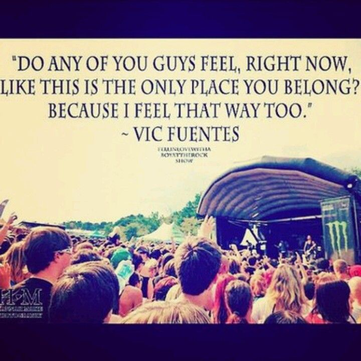 Love that he said this at warped tour too