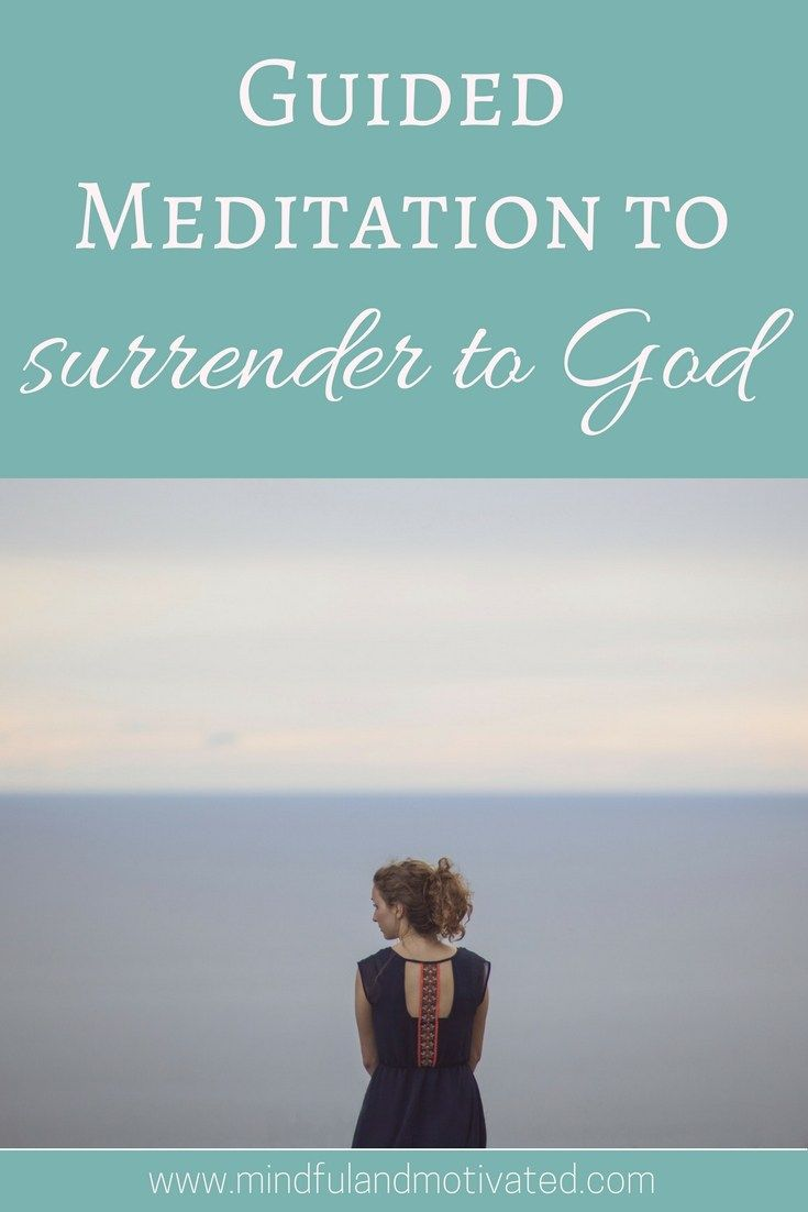 Guided Meditation to surrender to God. Listen to this meditation to surrender to God if you want to learn how to let go of stress and how to let go of anxious thoughts. Beginner-friendly guided meditation. Guided meditation for spiritual connection.
