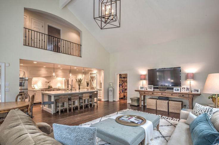 Open Living Rooms Kitchens
