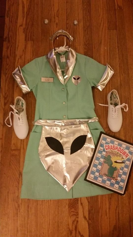 Liz's waitress uniform. Made by Laura Winchester.