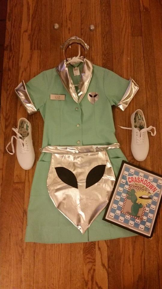 Liz's waitress uniform. Made by Laura Winchester.