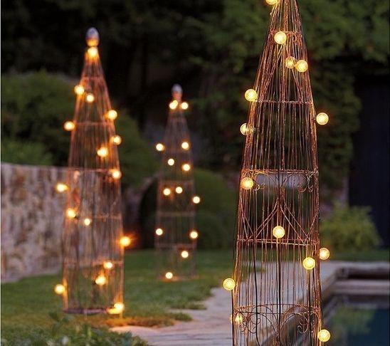 Wire Garden Trellis - eclectic - garden sculptures - Pottery Barn