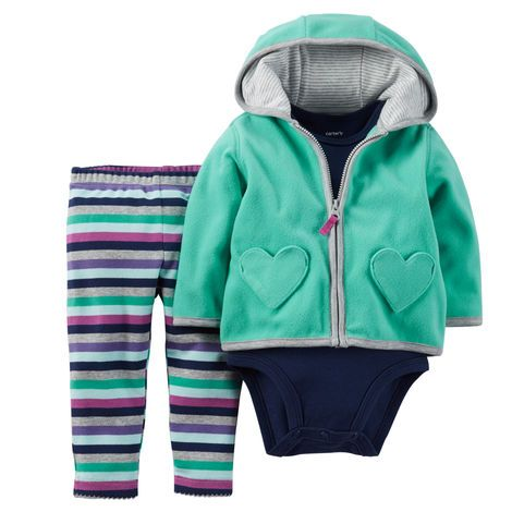 Baby Girl 3-Piece Cardigan Set from Carters.com. Shop clothing & accessories from a trusted name in kids, toddlers, and baby clothes.