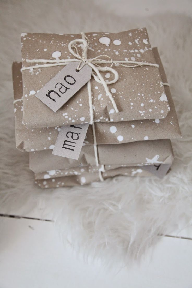 Cute winter gift wrap