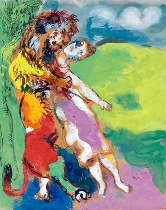 Marc Chagall - Le lion amoureux (Fables de La Fontaine), 1929