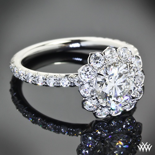 118 Best Diamond Halo Rings Images On Pinterest Halo