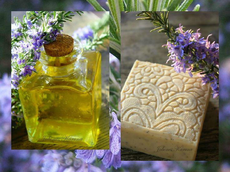 Rosemary soap. Jabón de Romero