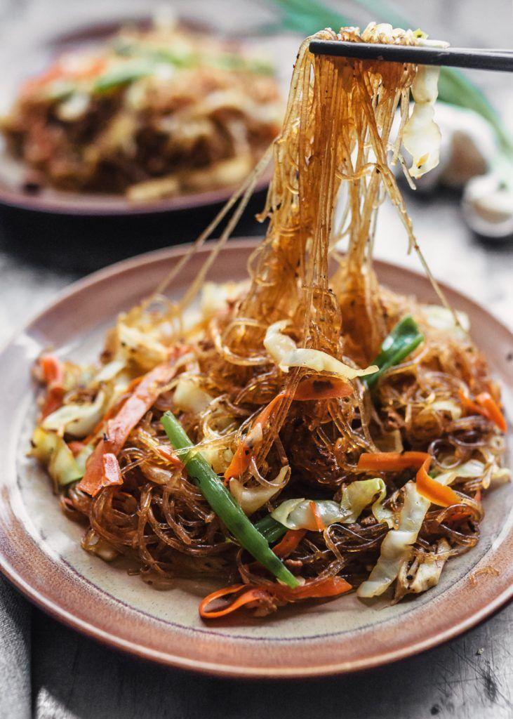 Stirfried vermicelli noodles 炒米粉 vegan glutenfree