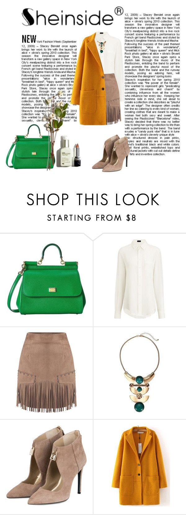 Camel slim skirt/Shein contest with prize! by adriana-claudia on Polyvore featuring Joseph and Dolce&Gabbana