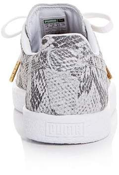 separation shoes 48afe 8c868 Puma Women's Clyde AO Snake-Embossed Low-Top Sneakers #Clyde ...