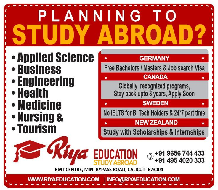 Planning to Study Abroad ??? Why wait? Get in touch with Riya Education and plan your future with us. Visit our website for details.