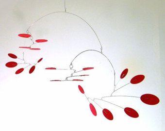 Mitte des Jahrhunderts moderne Mobile hängende Skulptur