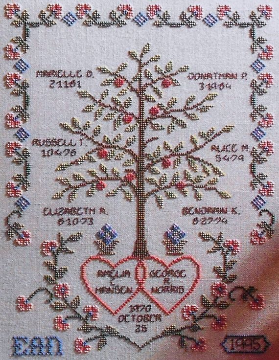 alice okon family tree sampler