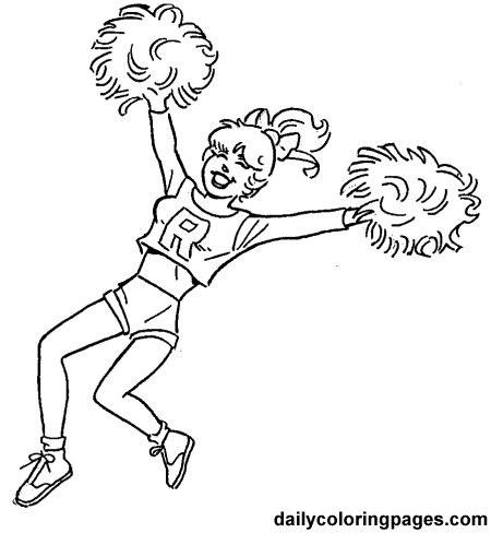 20 Best Cheerleading Coloring Pages Images On Pinterest Adult - cheerleading coloring pages 2