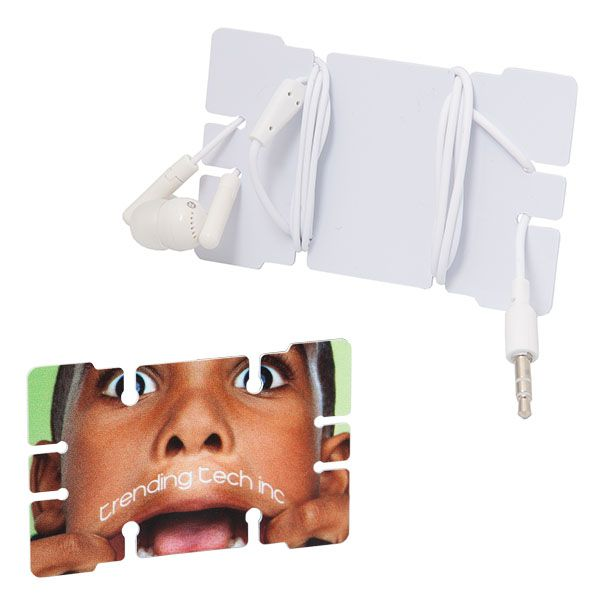 TRAVELLER CREDIT CARD CABLE ORGANIZER WITH EARBUDS