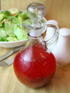 French Dressing: In A Jars, Salad Dresses, Garlic Powder, Tomatoes Juice, Dresses Recipes, French Dresses, Healthy Food, Low Calories Salad, French Style