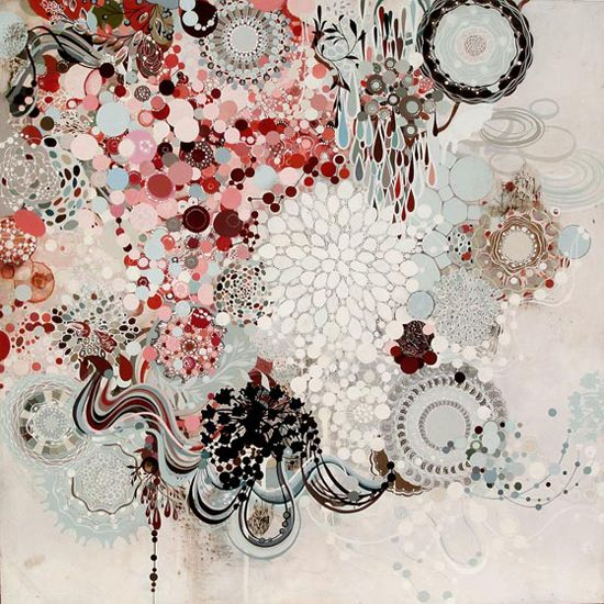 Creative Sketchbook: Reed Danziger's Jewelled Clusters of Lace and Colour!