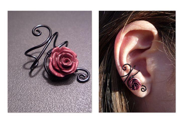 Royal Rose wire ear cuff. $7.00, via Etsy.