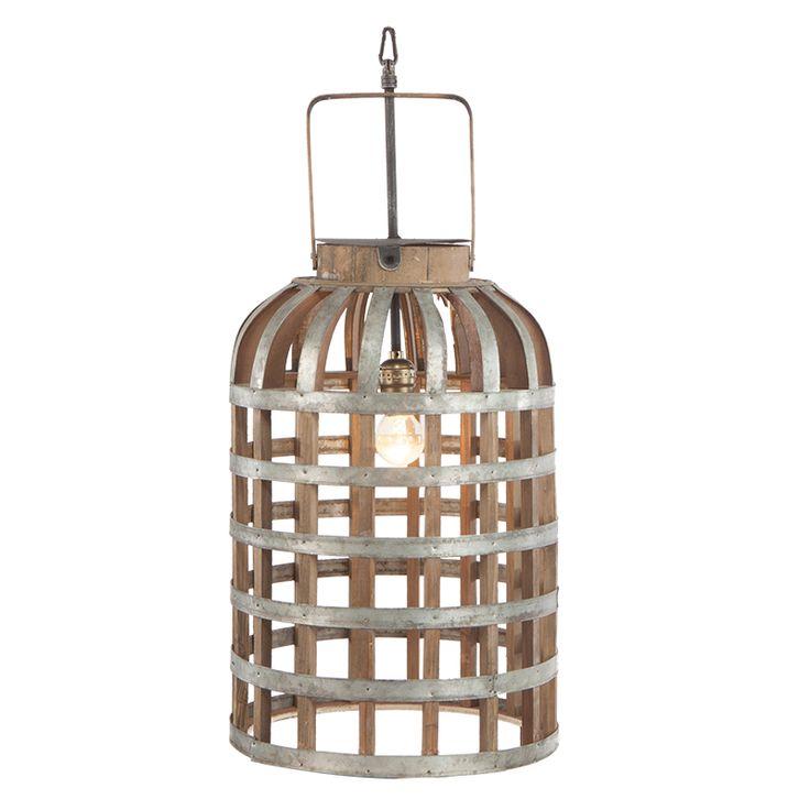 Wood Metal Hanging Lamp.