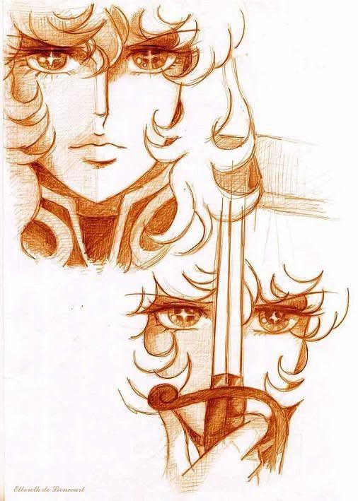 ~ Versailles Rosas ~ Fan Arts { Rose of Versailles / Lady Oscar }