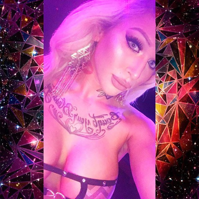 """These earrings tho! And Omgsh the Cover Fx Custom Drops + Anastasia BH Glow Kit in """"Sun Dipped"""" slaying my highlight tho. #blonde #tan #stripper #exoticdancer #dancer #blueeyes #desioeyes #desioinnocentwhite #girlswholikegirls #girlswithtattoosdoitbetter #girlswithtattoos #inkedgirls #inked #tatted #tattoos #tattedgirls #sexyinkedchicks #thick #tattooedwomen #seattle #showgirls #dejavushowgirls #kylielipkits #kylielipkitdolce #kylielipkitexposed"""