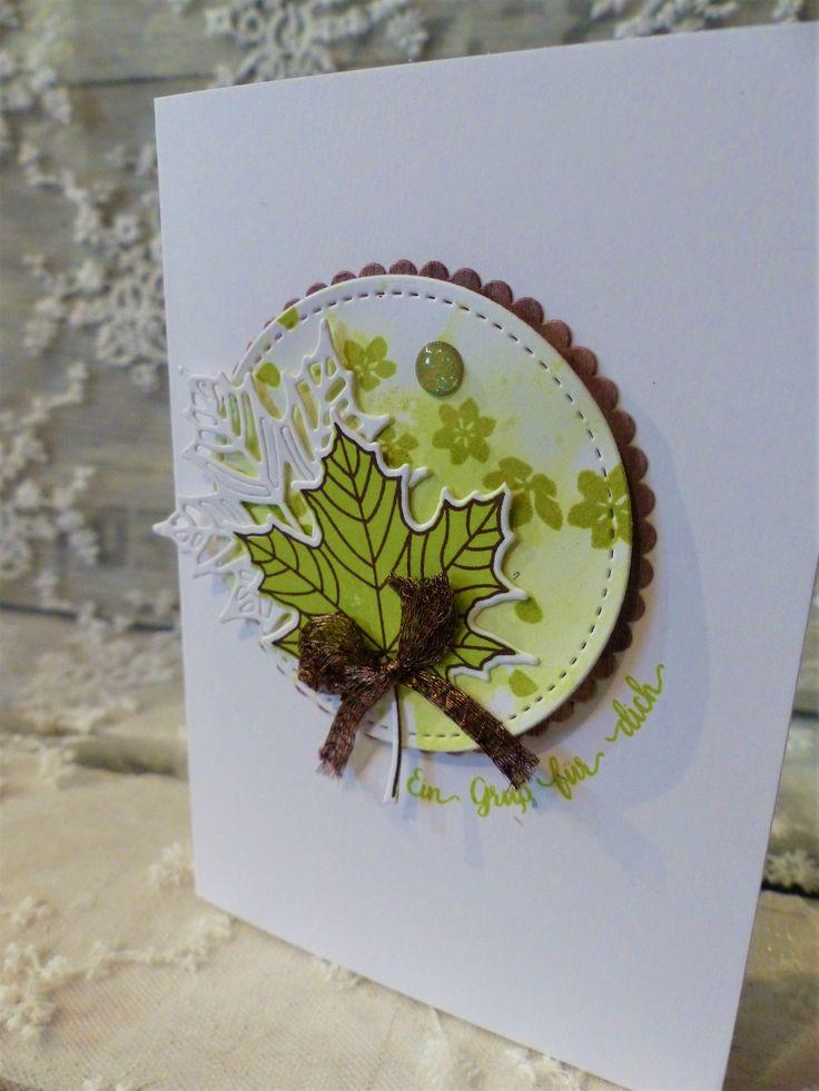 Ангела, открытки из салфетка листьями