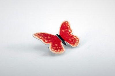 Handpainted Steel Butterfly Brooch by #CinkyLinky