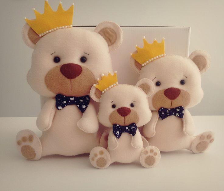 Lindos ursinhos ótimo para decorar o quarto de seu bb e deixar ainda mais especial...  Tamanhos 16cm....17,00  22cm....23,00  28cm.....29,00