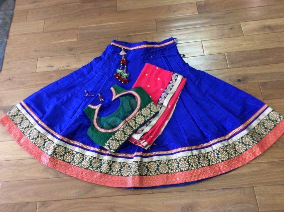 Beautiful Raw silk 3 pc Lengha Choli by AnmolEthnics on Etsy
