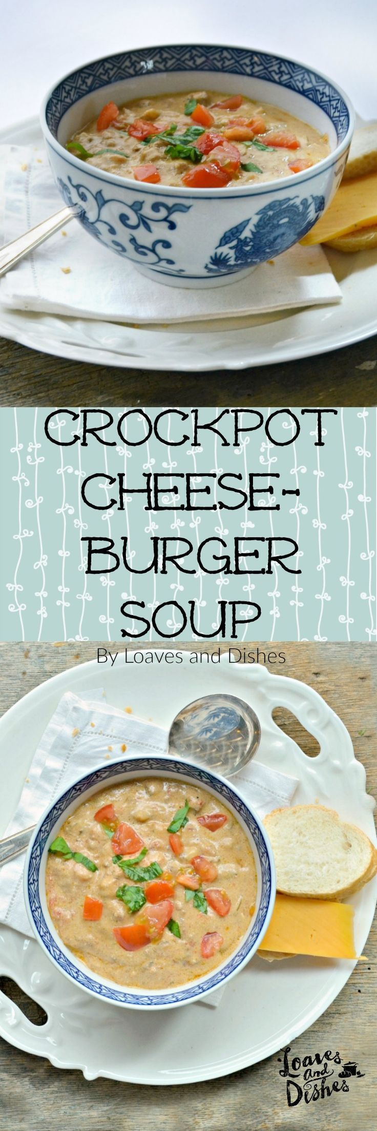 This recipe is for a slow cooker soup that is so thick it is like a chowder or stew. Rich with hamburger and cheese and slow cooked all day! PERFECT!