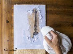transferir imagen a madera con Liquitex gel mate translúcido.: