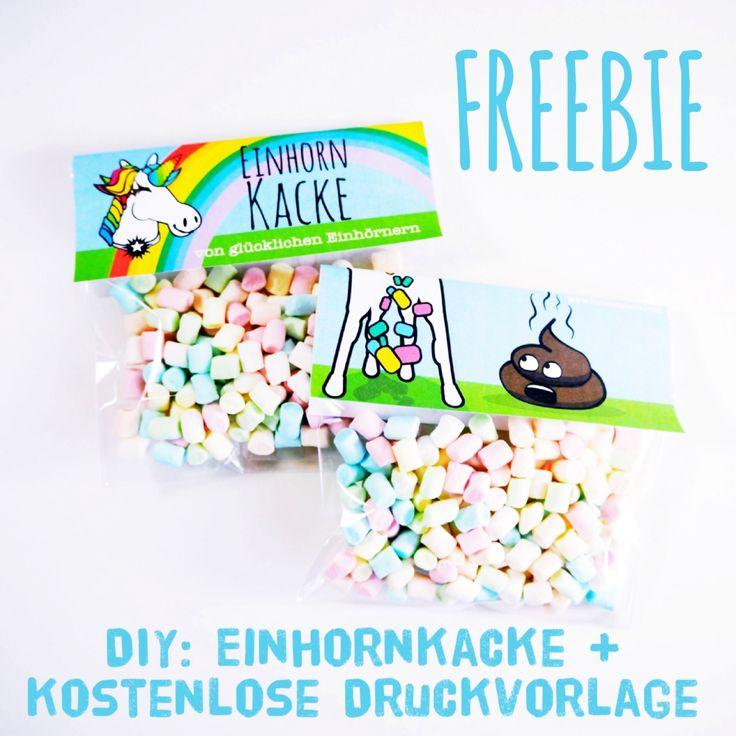 DIY: Einhornkacke! Das ganz besondere Geschenk + kostenlose Druckvorlage ( Freebie )
